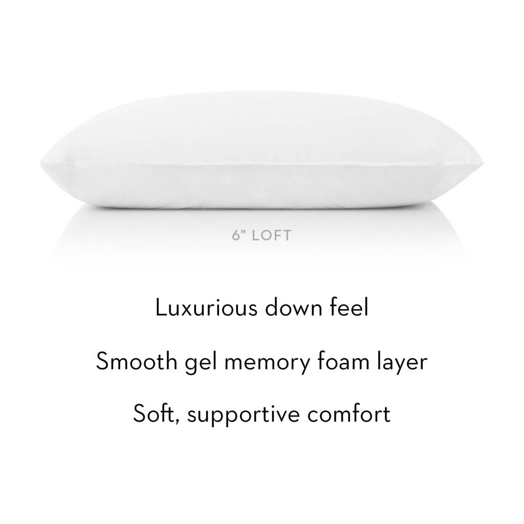 Gelled Microfiber plus gel dough layer pillow side view