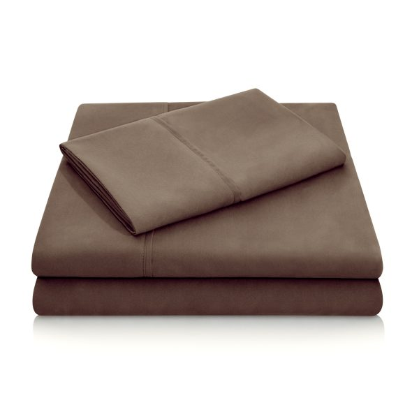 Chocolate Brushed Microfiber Sheets