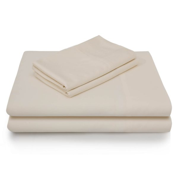 Ivory Brushed Microfiber Sheets