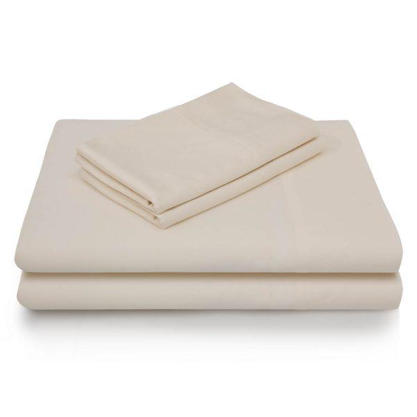 Ivory Brushed Microfiber Sheets