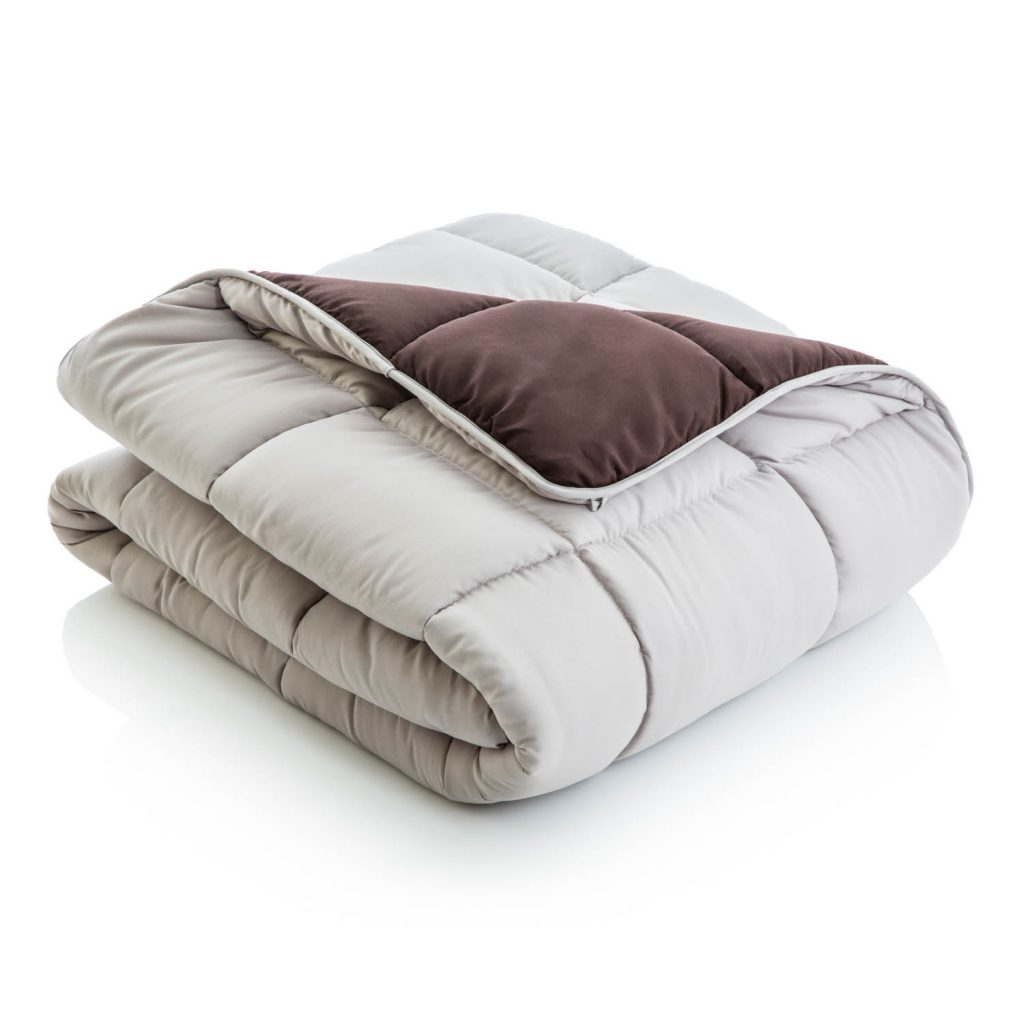 Driftwood/Coffee Reversible Bed in a bag comforter