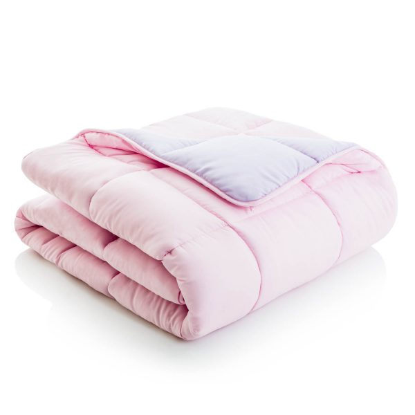 Lilac/Blush Reversible Bed in a bag comforter
