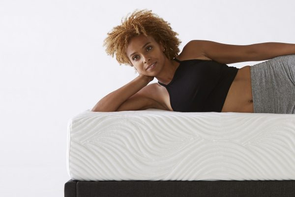Pure Talalay Latex Bliss Nature Mattress with woman on bed