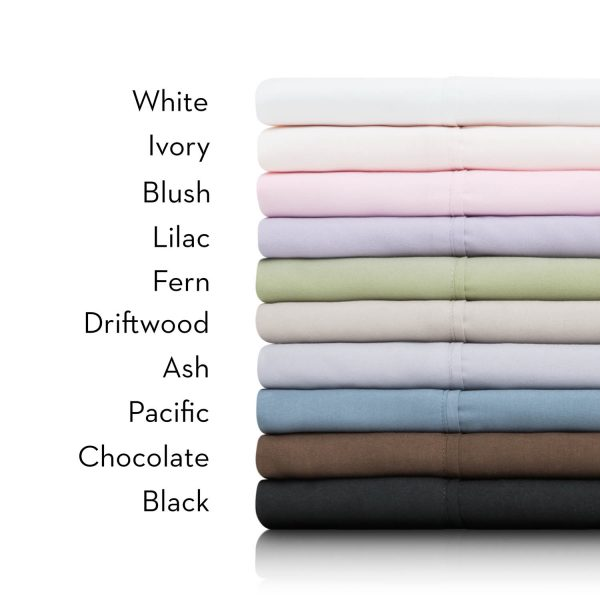 Stack of Brushed-Microfiber Sheets with identifying colors