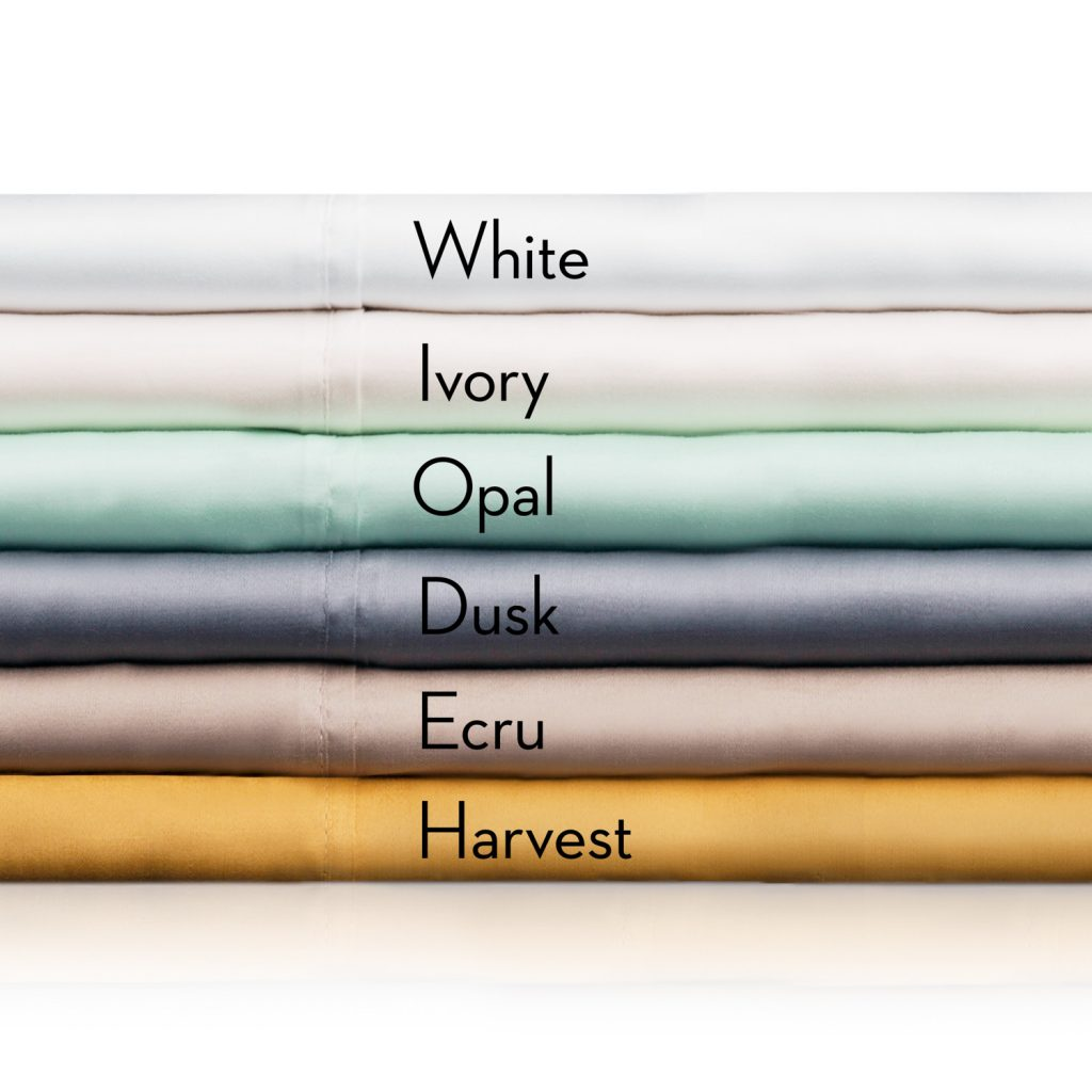 Stack of Tencel Sheets with identifying colors