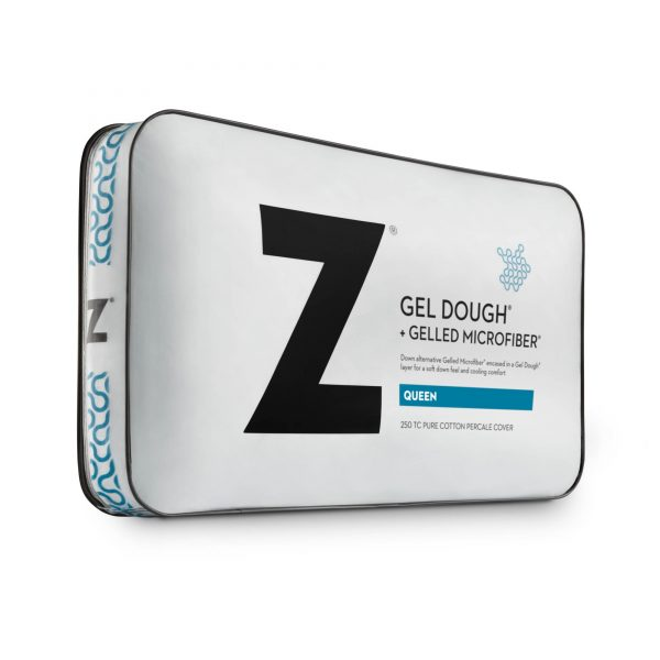Gelled Microfiber plus gel dough layer pillow package
