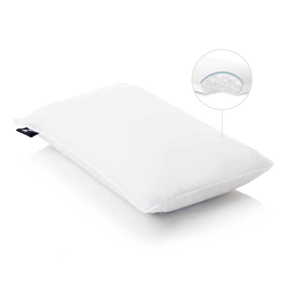 Gelled Microfiber plus gel dough layer pillow inside view
