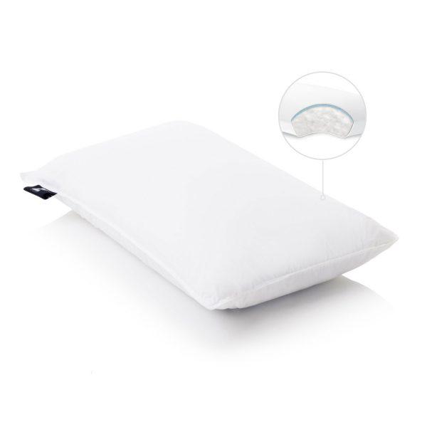 Gelled Microfiber plus gel dough layer pillow inside view