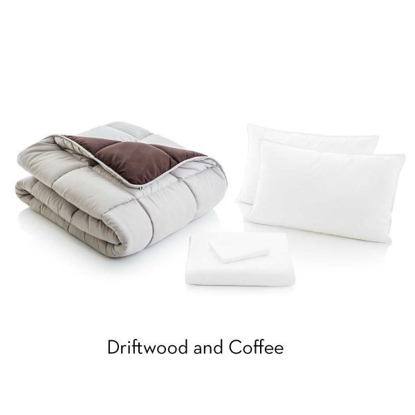 Driftwood/Coffee Reversible Bed in a bag description